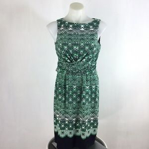Donna Morgan Dress Sleeveless Green Black